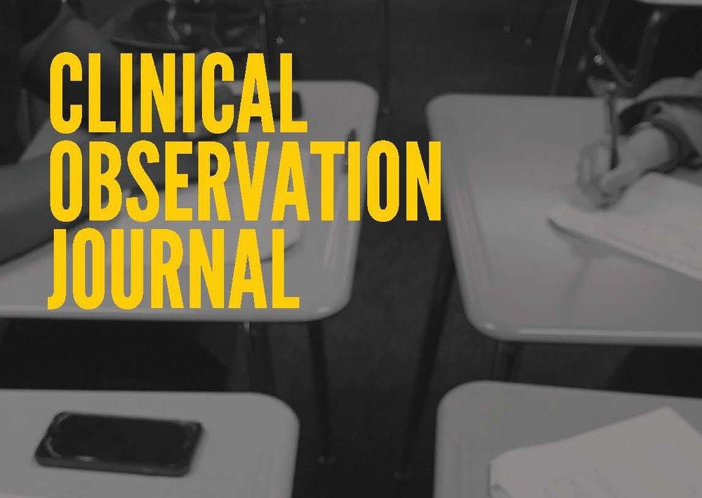 Observation journal -