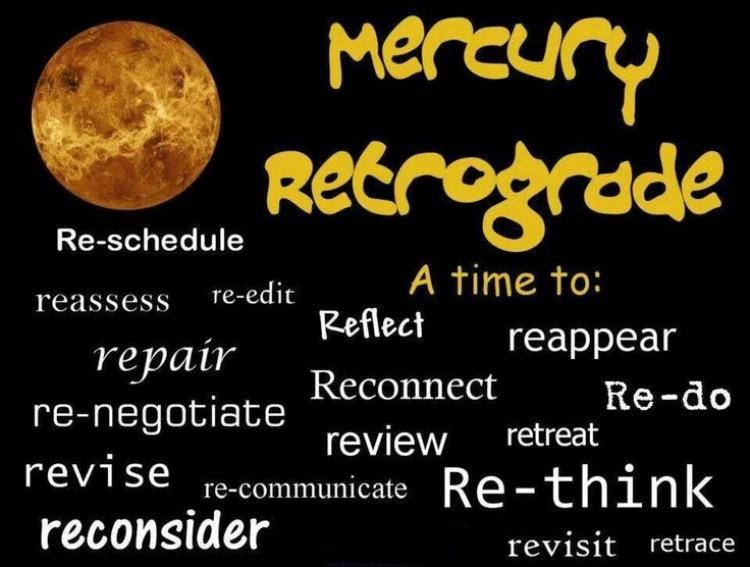 Mercury Retrograde DO's!
