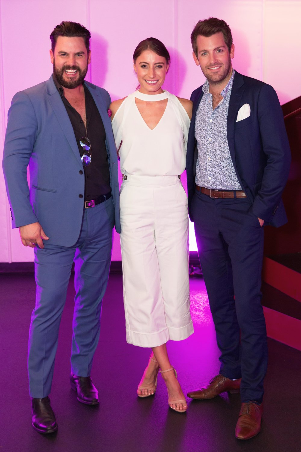 Ben Mingay, Rebecca Harding and Tim Ross