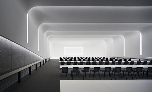 Hyundai capital convention hall seoul korea kgm architectural lighting
