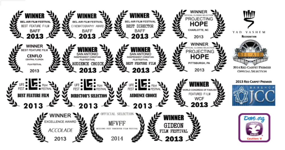 Over 20+ film awards and festival honors, both religious and secular.