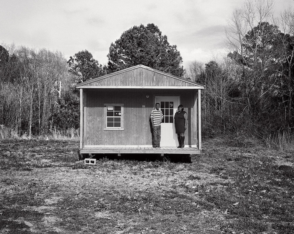 dinah and levon built a little cafe-d's &t's- behind their house, where they recently celebrated their wedding.