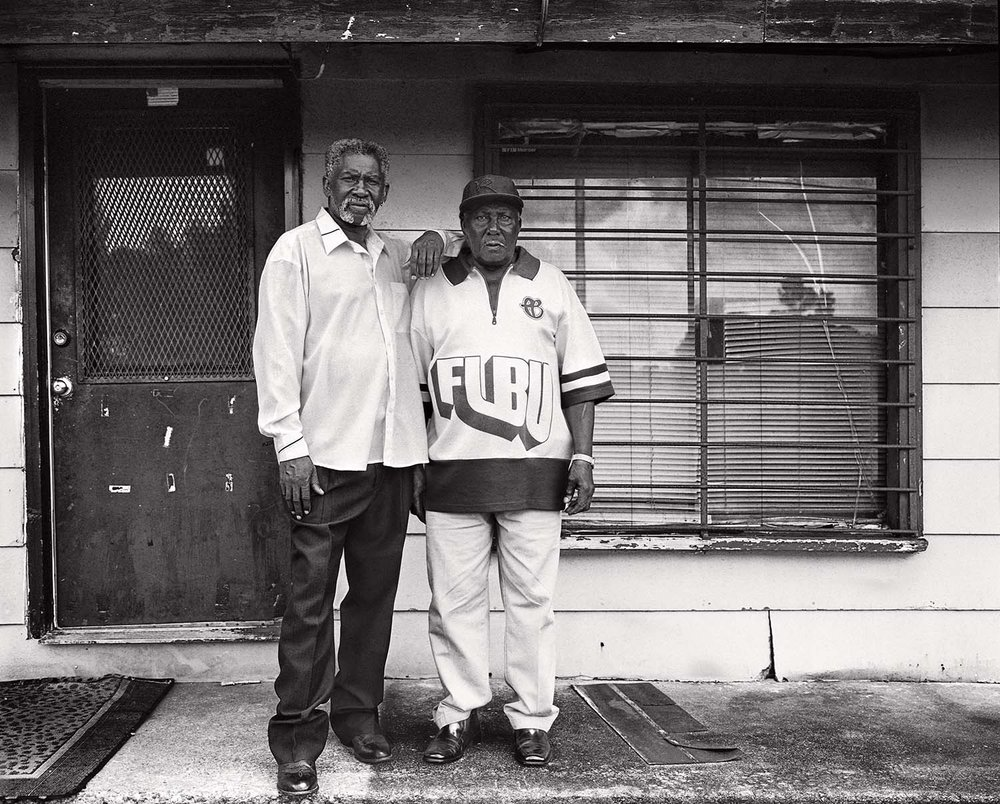 levon and his father richard brooks at levon's mother's old house, where he lived after his release.