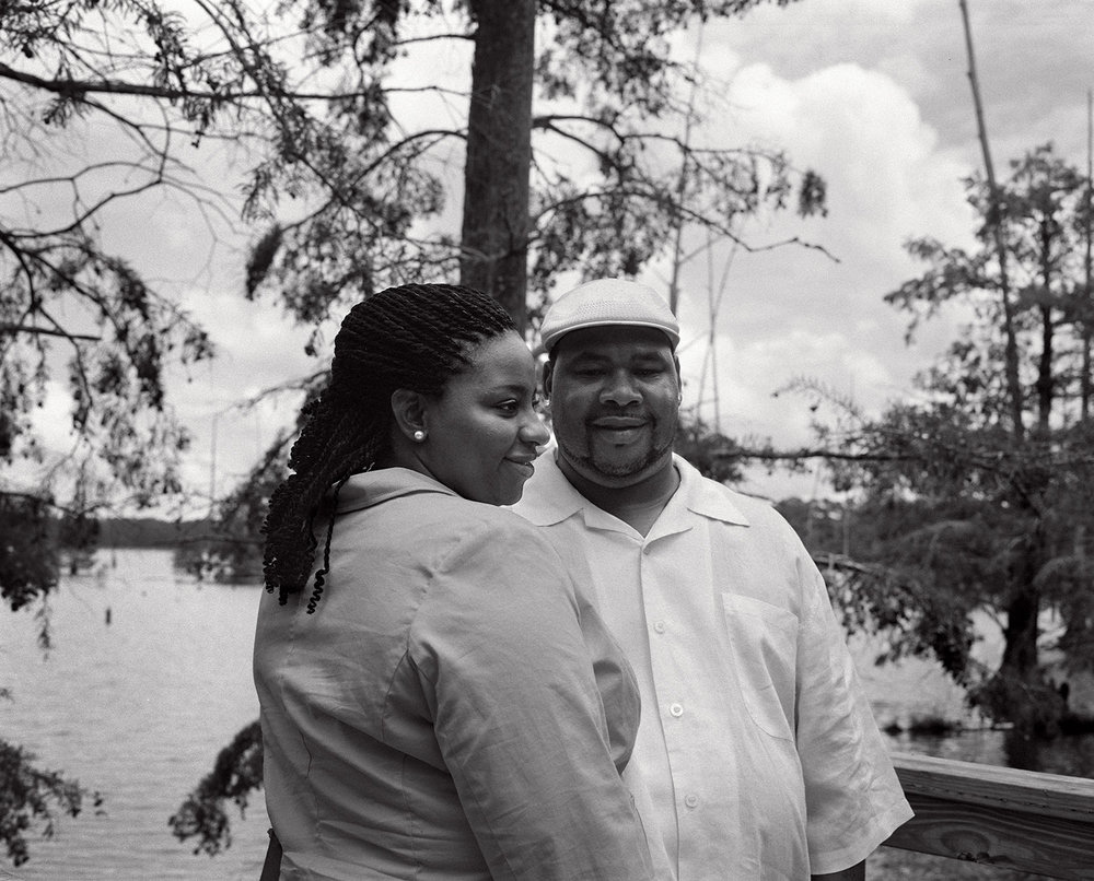 kennedy and his fiancee omelia at their favorite sunday spot at the noxubee river refuge.