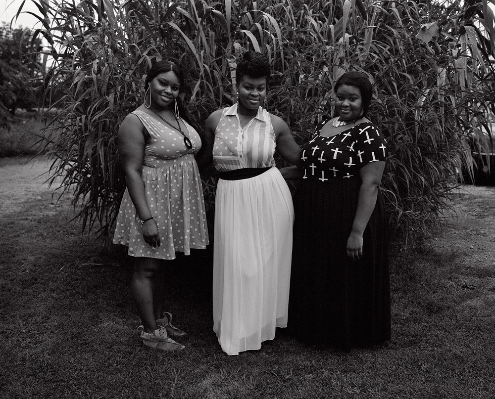 kennedy's nieces theresa, kayla and brittney celebrate july 4th.