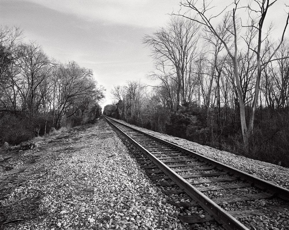 going to artesia, train tracks.