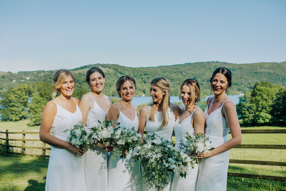 Beautiful bridesmaids at Silverholme Manor - Lake District
