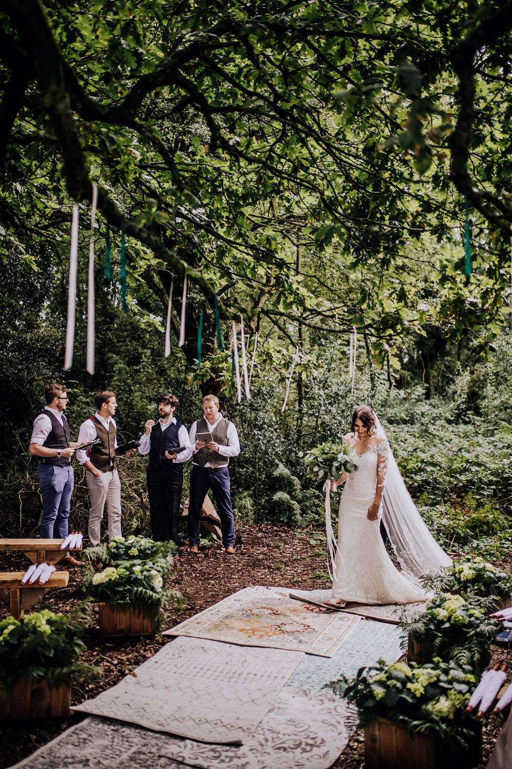A forest wedding in the heart of cheshire