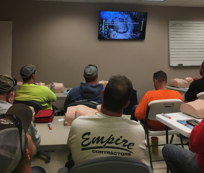 Empire Contractors Safety - Empire Contractors updated safety training:OSHA 10First AidCPR AED