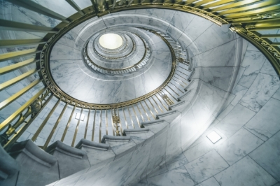 This marble and brass staircase in the Supreme Court Building is a stunning example of timeless design. Photo courtesy of Getty Images.