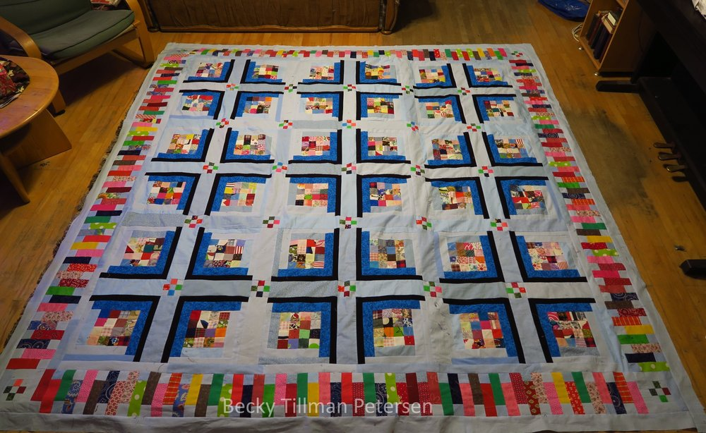 It's just a quilt top so far. I'll get to quilting it before too long!