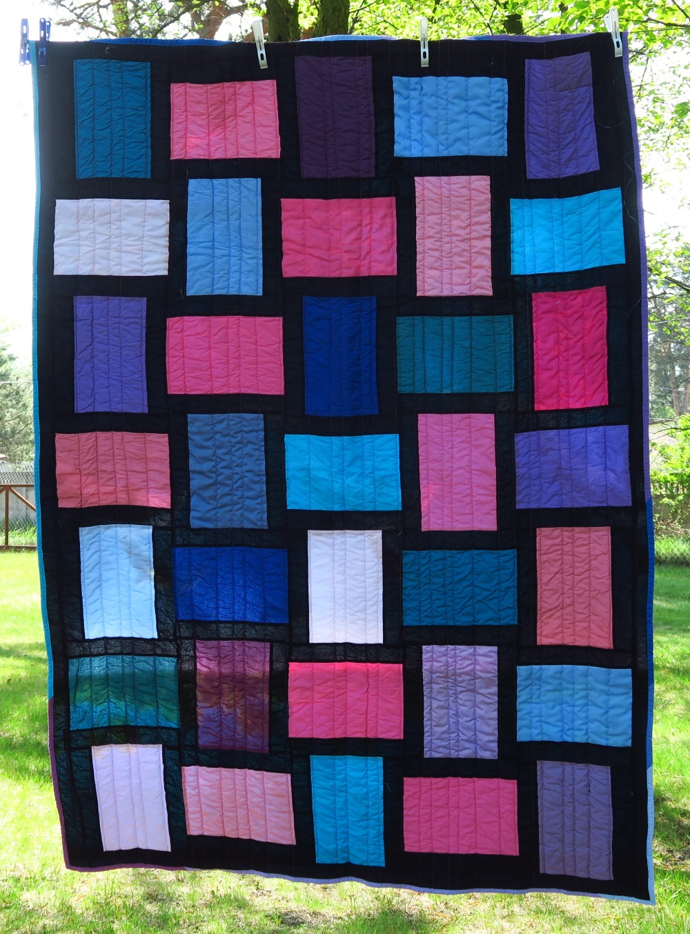 45  Then I went on to a series of these rail fence quilts appropriate for teen girls/young adults/ladies.