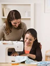 My mom taught my sister and me how to sew so that by the time we had Home Economics in 9th grade, we already knew how to sew. (photo from google images)