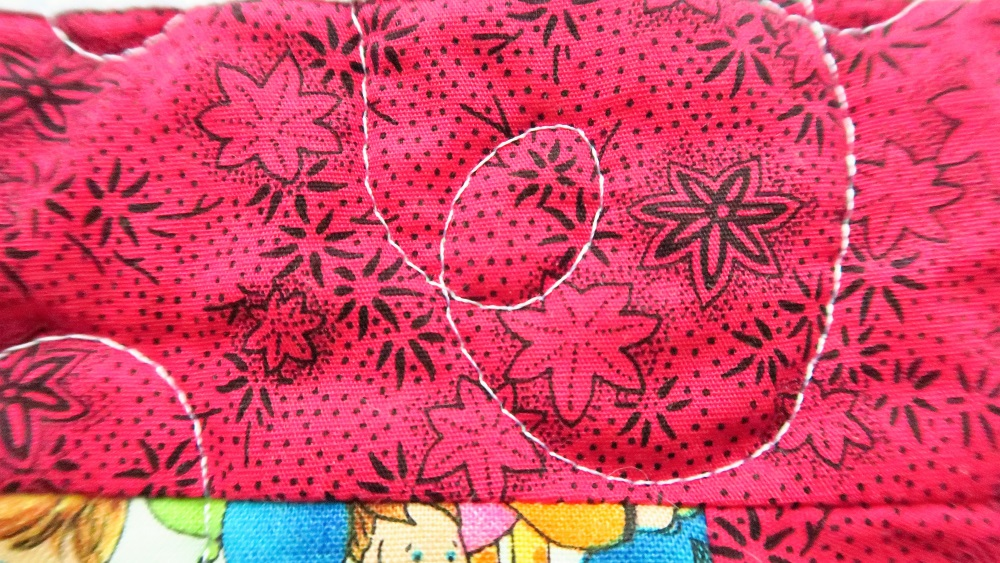 It's hard to believe that this is the hot HOT pink fabric. But it is.