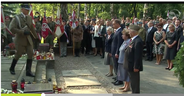 A ceremony where the president of Poland honored the fallen soldiers and resistance movement - normal citizens who died in the uprising.