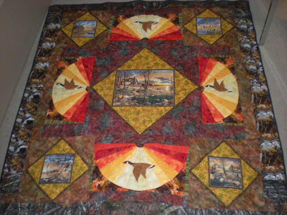 Colleen Froats made this wonderful quilt featuring nature! Gorgeous!