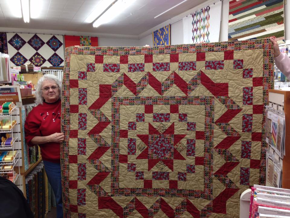 Gloria Jansen Charlton made this fine quilt for a vet!