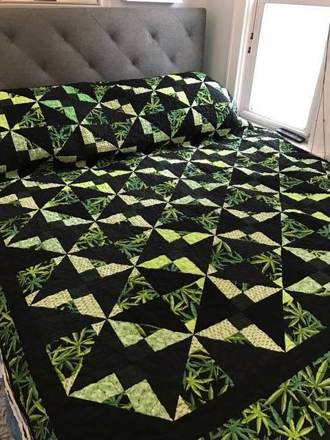Sharon Henrie Lake made this striking herb themed quilt.