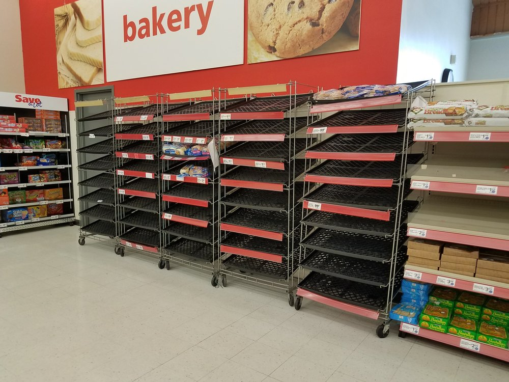 At Save-a-lot, there was no bread. Time to dig out the bread machine, I guess.