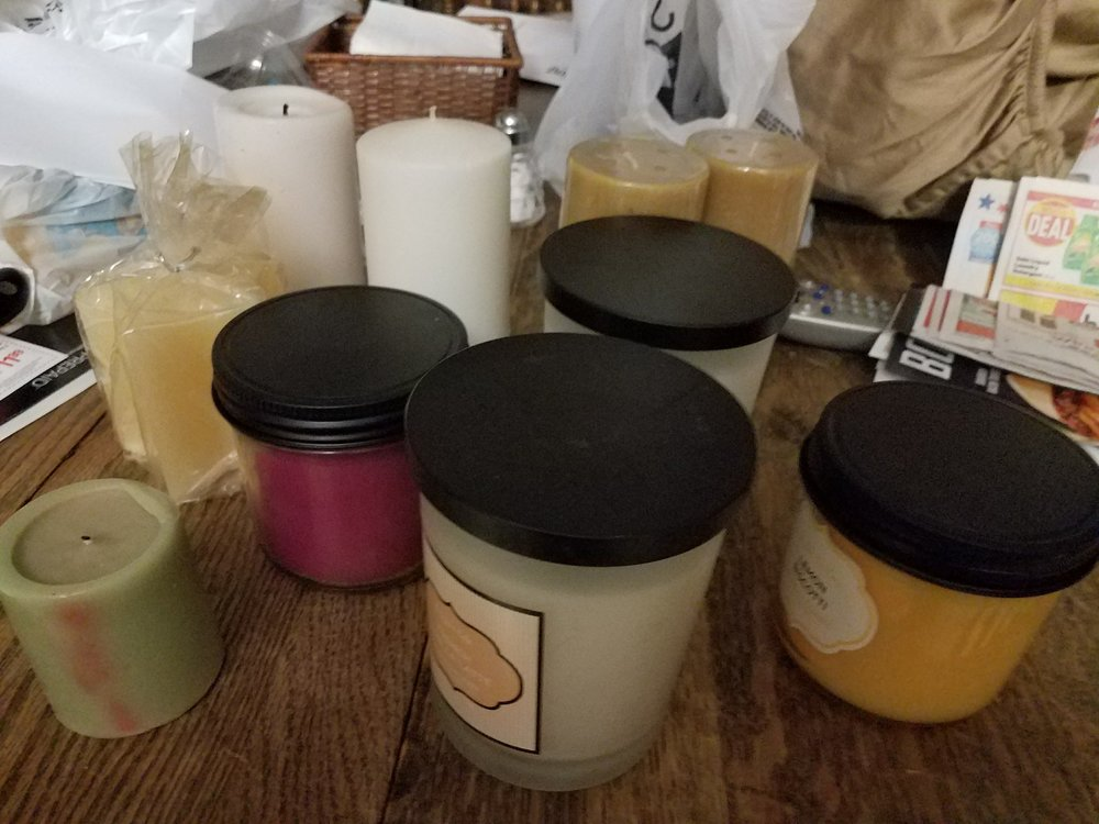 Just some of our candles that are ready to light our days.
