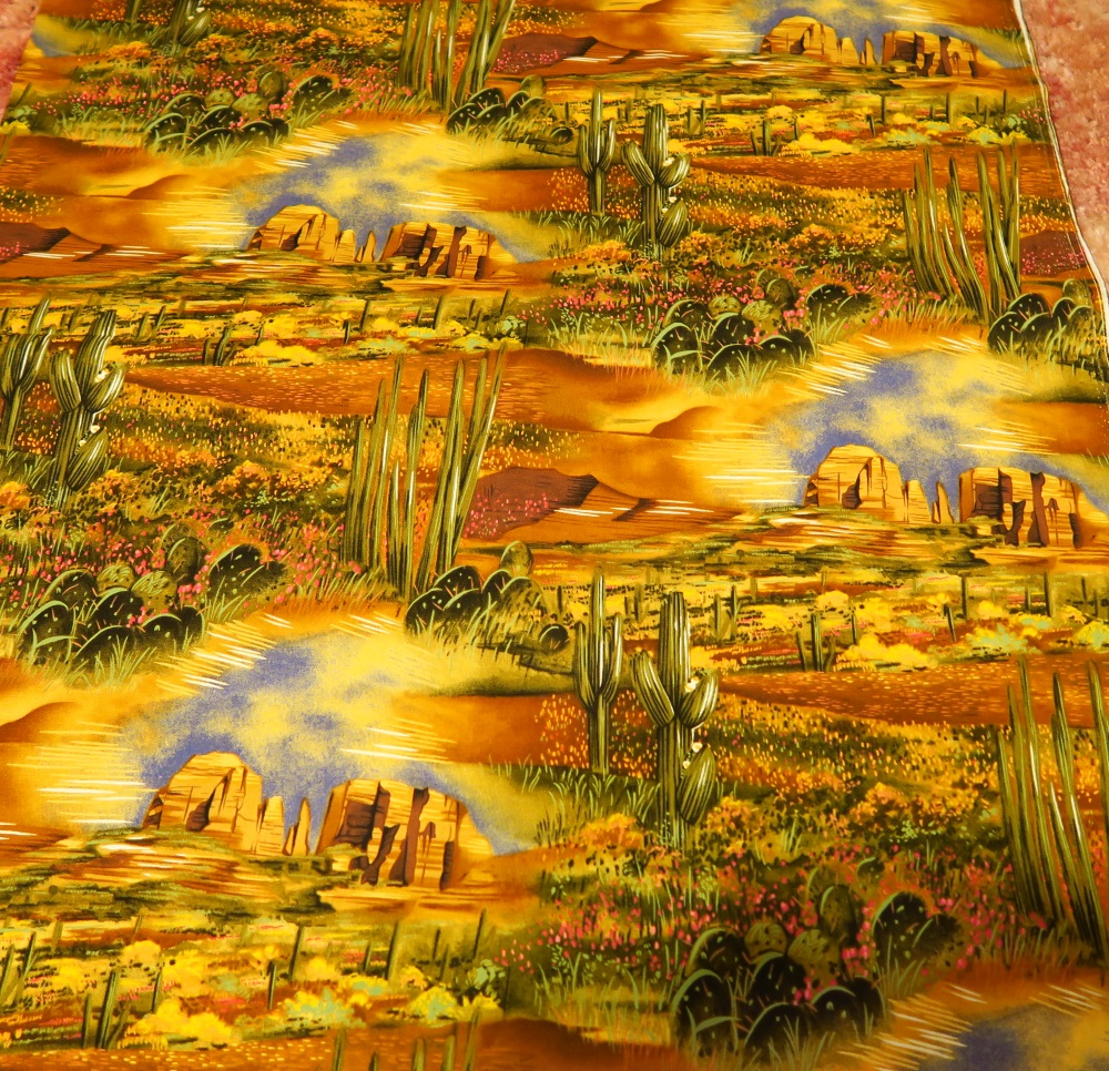 Truly beautiful Arizona fabric.  Before we chose a mission board that was based in Arizona, i didn't really know that the desert was a beautiful place. Taking the time to visit and be there in Arizona and other desert places has shown me that it really is!