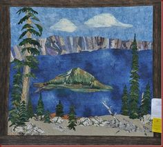 Landscape applique quilt  I took off of pinterest.