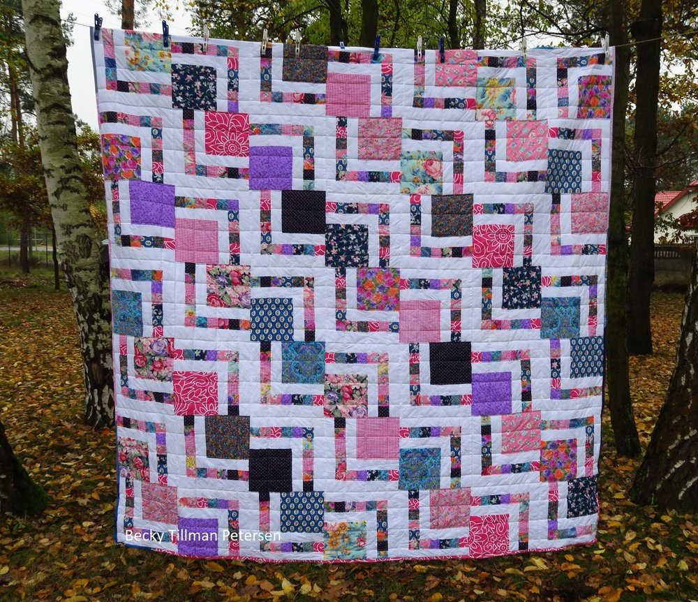 The Big Block pattern is one I've written up and is in the free patterns section  here .
