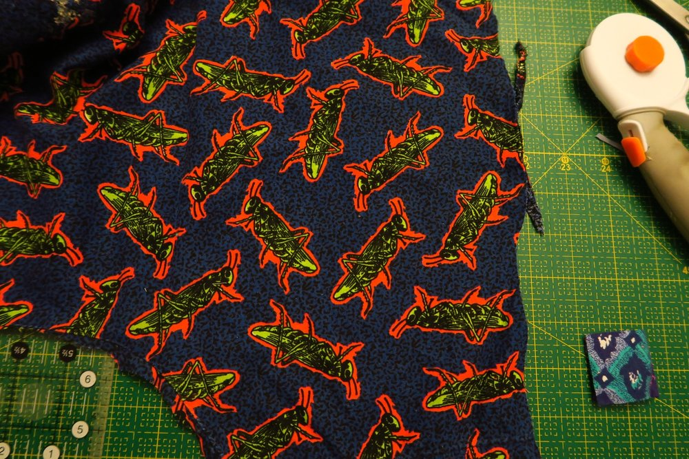 This grasshopper fabric used to be a medical scrub. It's a very fun fabric.