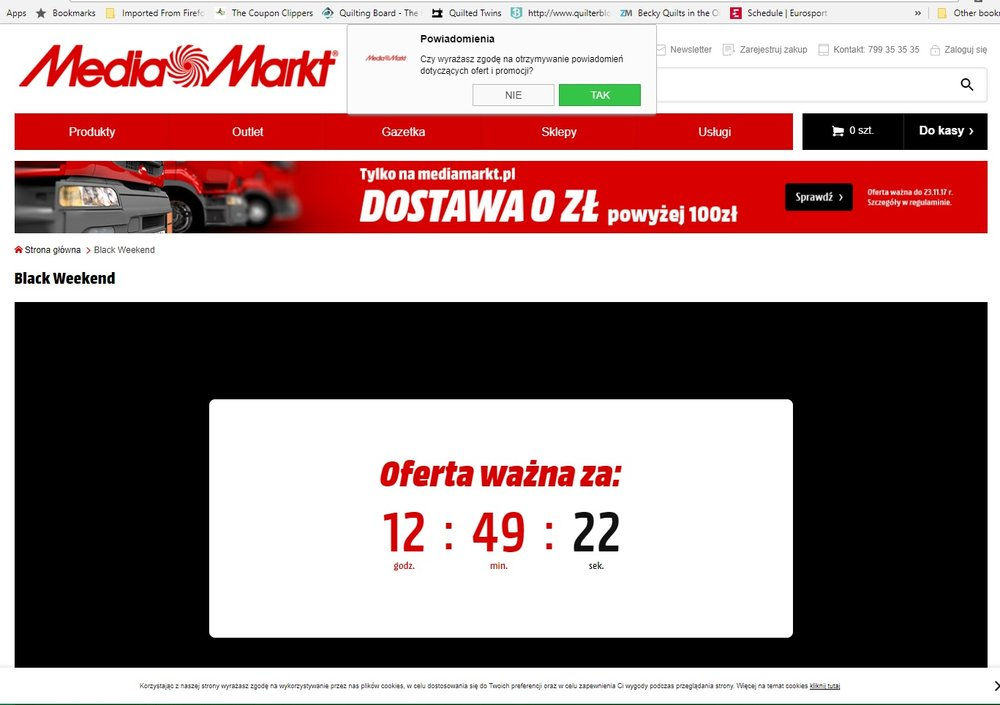 Media Markt decided to have  a Black Weekend!