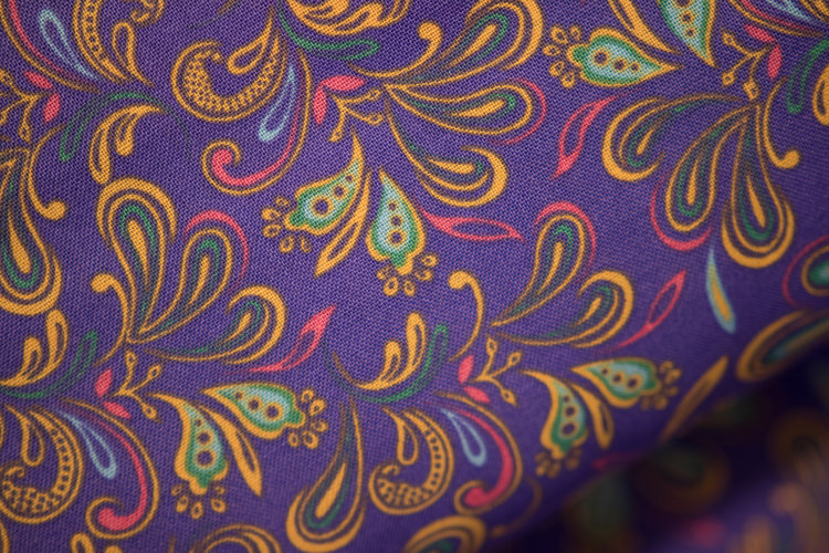 Purple Mixed Fabric