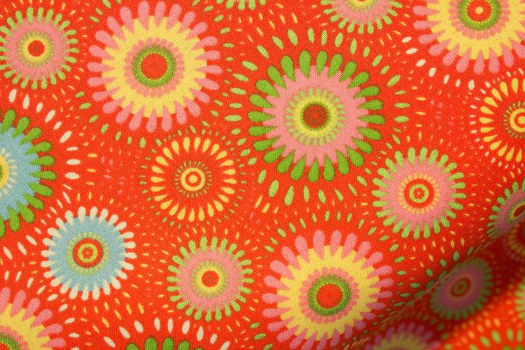 Orange Mixed Fabric