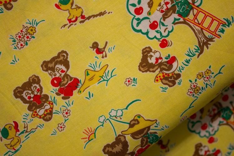 Yellow Mixed Fabric