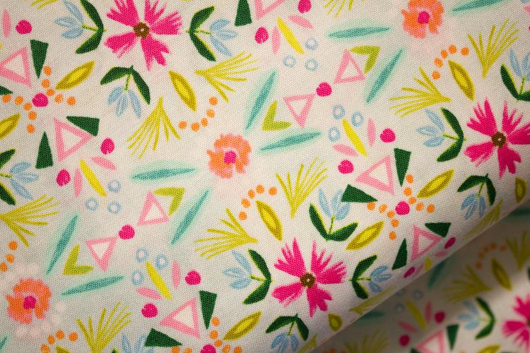 White Mixed Fabric