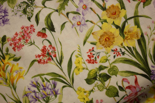 Cream Mixed Fabric
