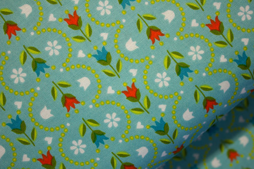 Aqua Mixed Fabric