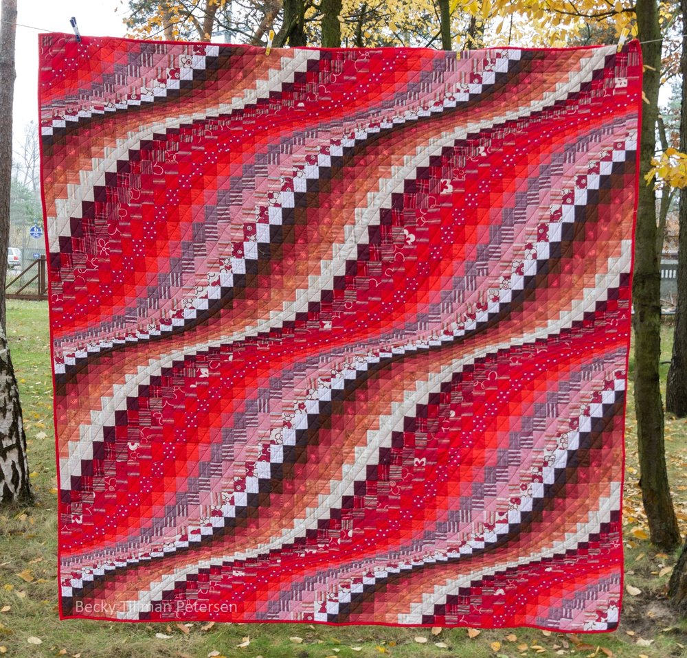 Red Tide  pattern by Eileen Wright called Surf Song