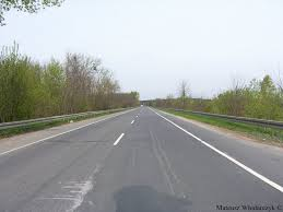 Empty road in Poland
