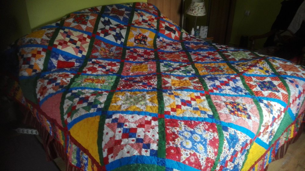 Previous Quilt on Shadow Bed