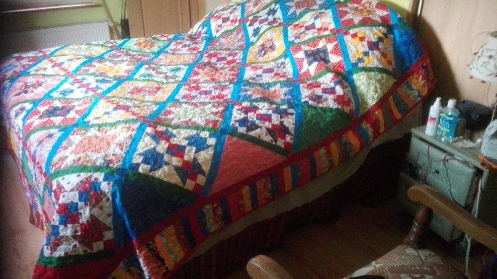 Previous Quilt on Light Bed
