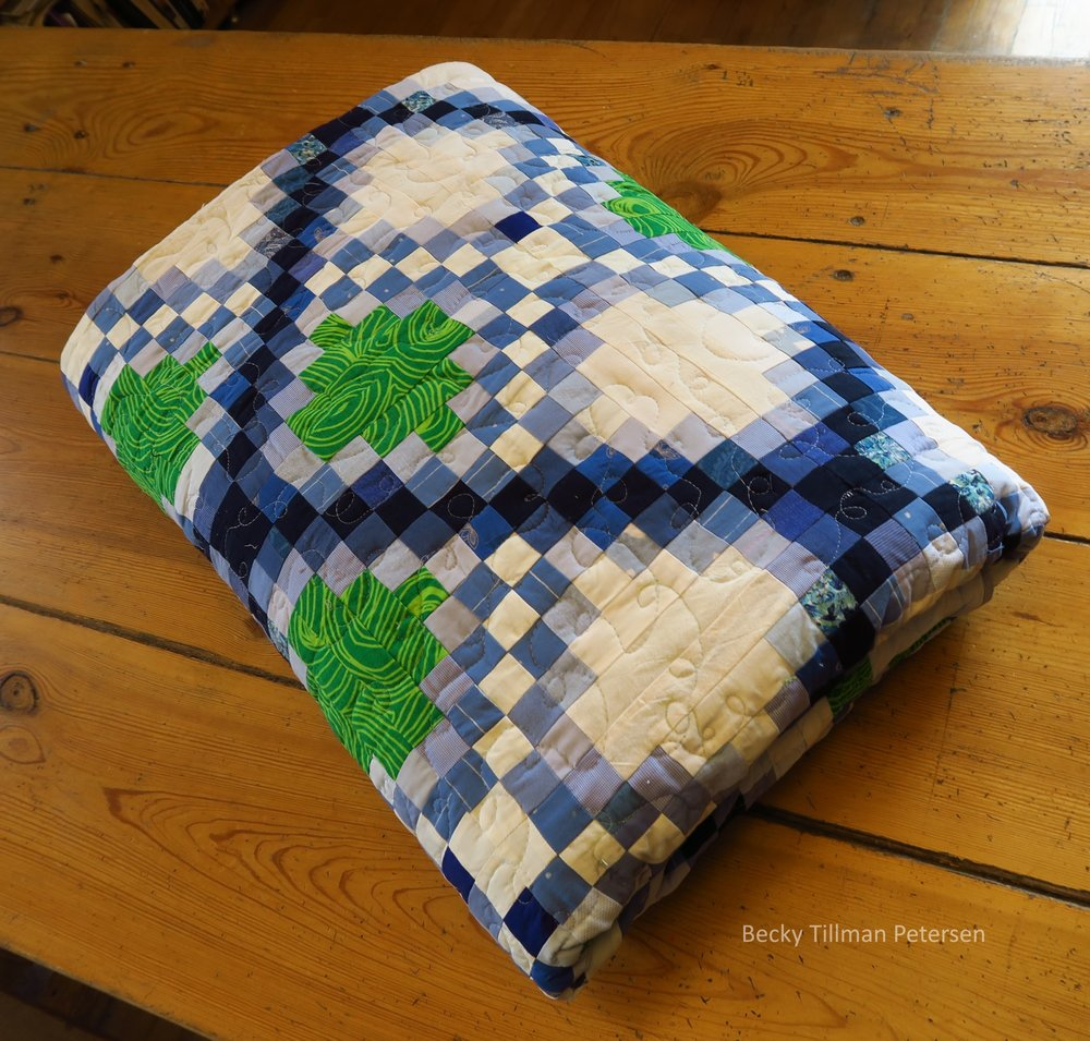 Triple Irish Delight Quilt Folded Up