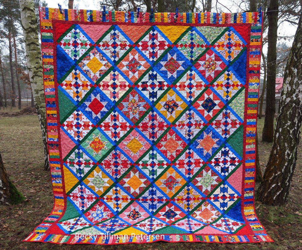 Previous Quilt Hanging in Woods