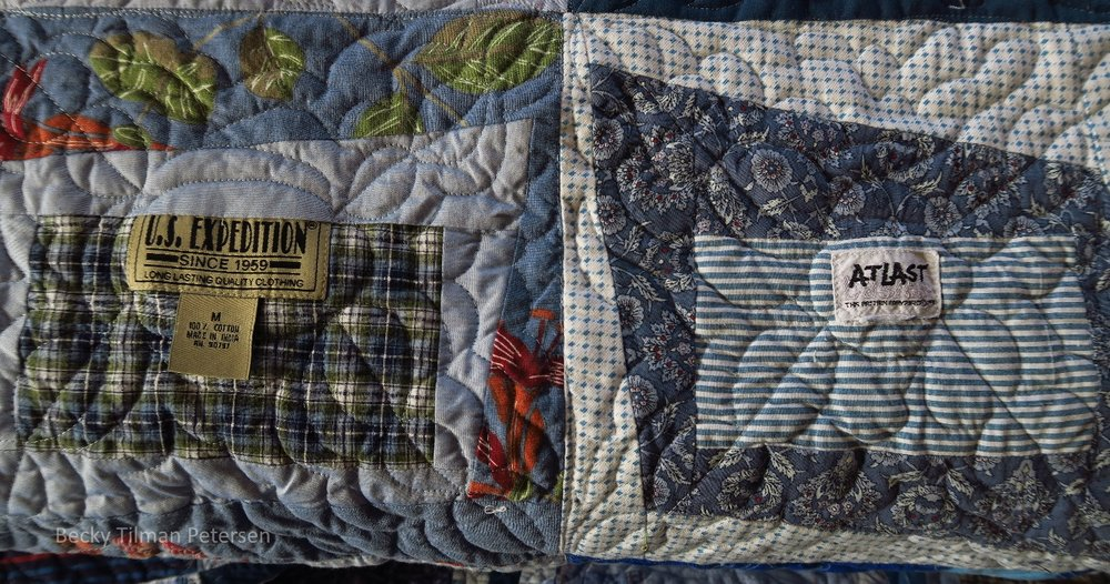 Close up of Premium Label Quilt Pattern Two