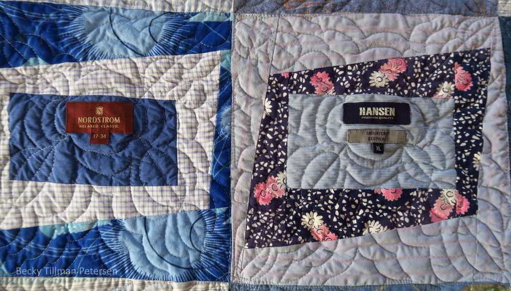 Close up of Premium Label Quilt Pattern Four