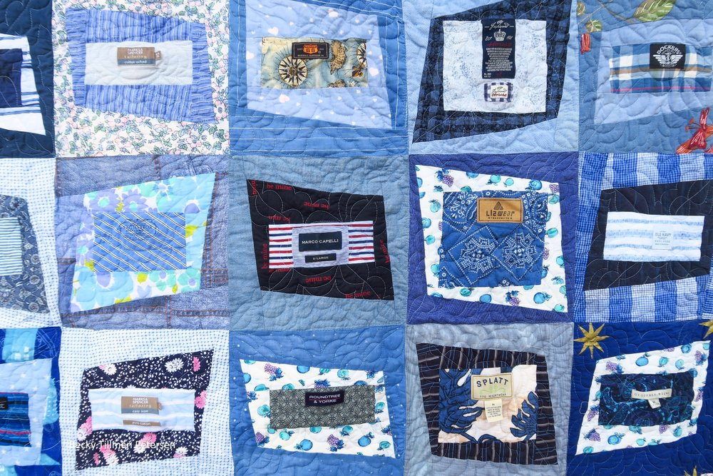 Close up of Premium Label Quilt Pattern Five
