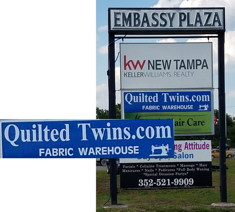 Quilted Twins Permanent Sign