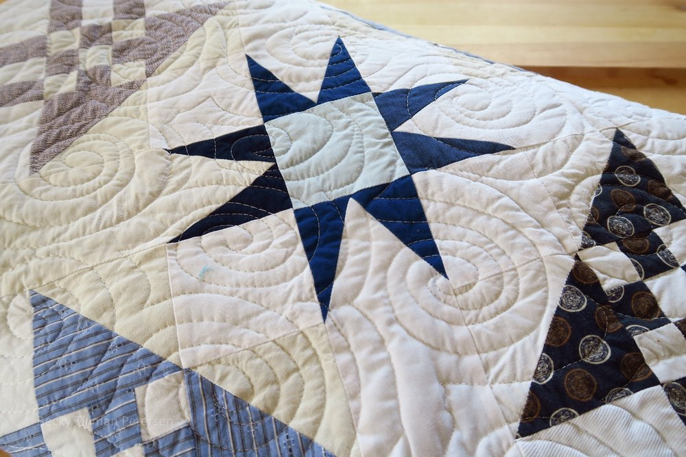 Star Pattern on Starring Monkey Wrenches Quilt