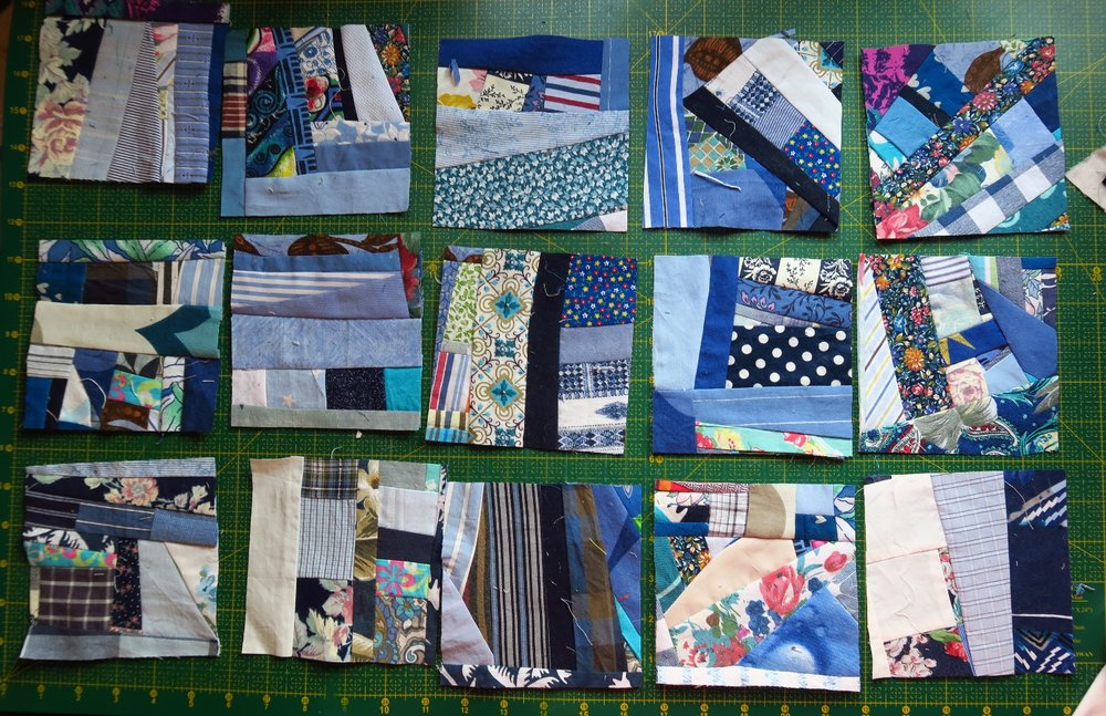 Shadowed Crumbs Quilt Blocks
