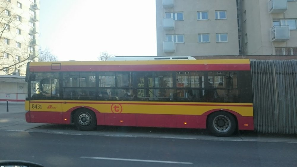 Polish Bus with Bendy Portion