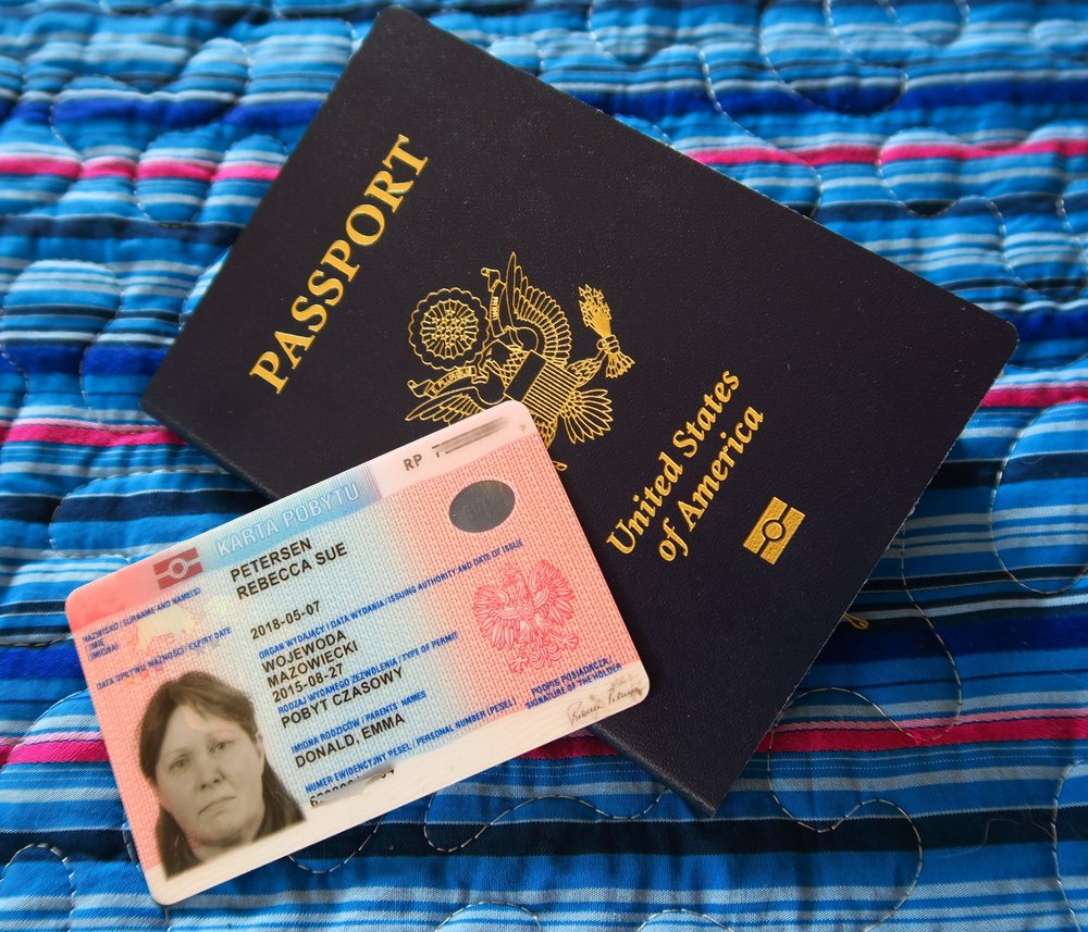 Polish Driver's License with US Passport