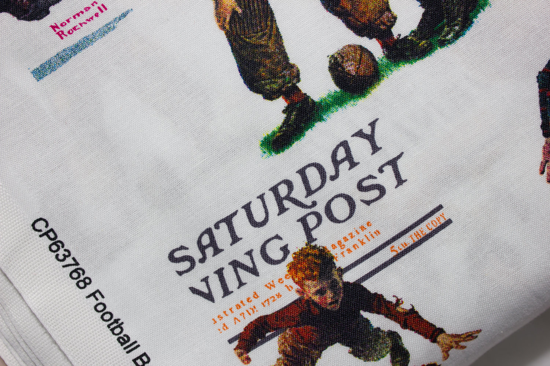 "1 Yard Springs Saturday Evening Post /""Football Boys/"" Fabric"
